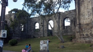 Ruins in Cartago taken from the car