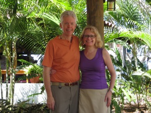 On the terrace outside our room at Margarita's B&B.