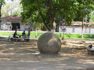 One of the spheres in the park in Sierpe