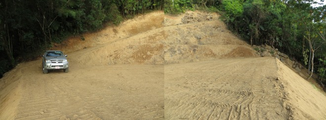 This is the lot after the earthwork has been finished.