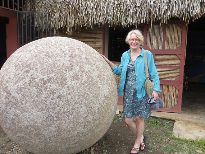 Me outside the sphere museum in Boruca