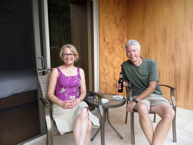 Relaxing at our hotel in Boquete