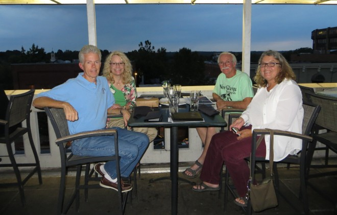Doug, Corrine, Ellen & Eddie at Top of the Hill Restaurant in Chapel Hill