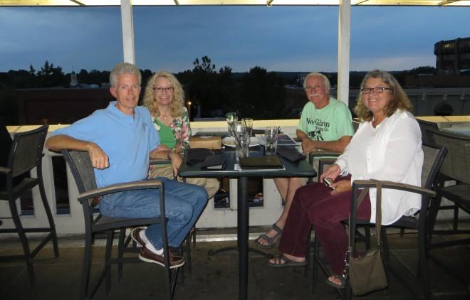 Doug, Corrine, Ellen & Eddie at Top of the Hill Restaurant in Chapel Hill