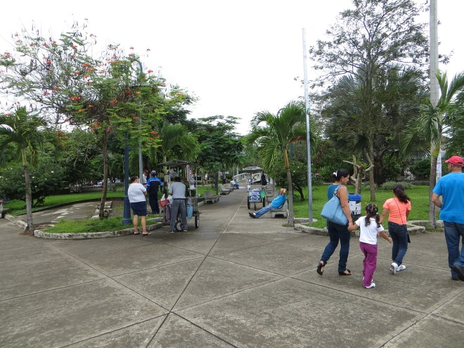 San Isidro's central park