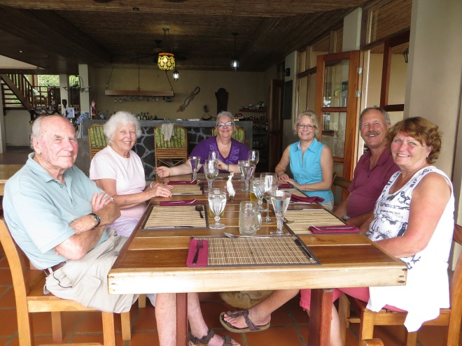 Lunch at Rio Magnolia.  L to R: Norman, Sally, Charlene, Ellen, John and Maureen.