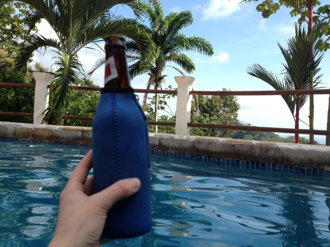 Ahhh, a cold beer in the pool