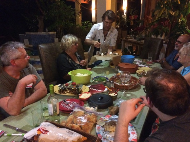 Super Bowl Sunday feast at Toni & Gib's