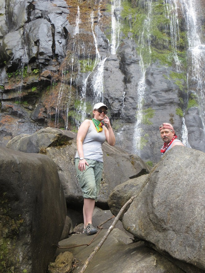 Climbing up San Luis waterfall...gorgeous!
