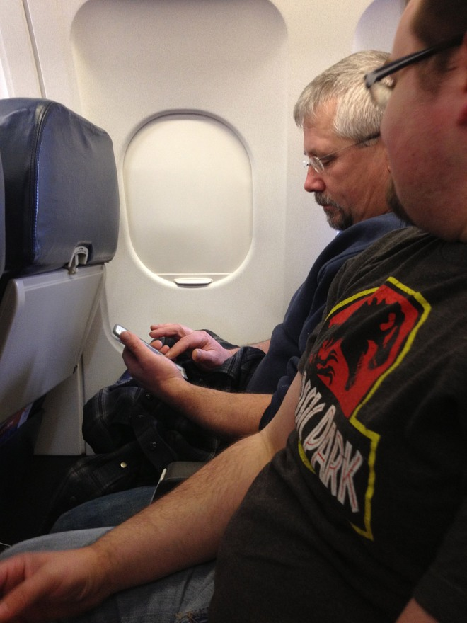 "Mark texting us that they ""might not make their flight"" ha ha ha"