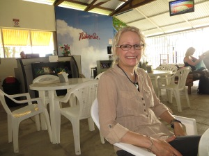 Waiting in the Quepos airport to board our flight to San Jose