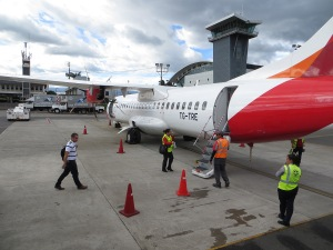 Ready to board our Avianca flight