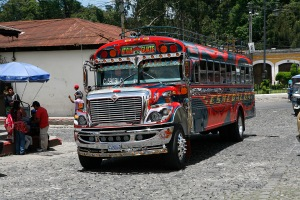 "The ""Chicken Bus"" is the main mode of public transportation around Guatemala"