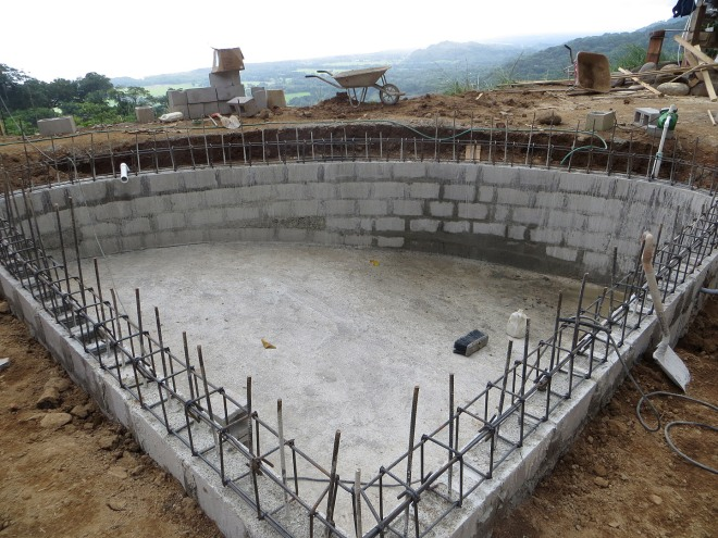The pool is taking shape