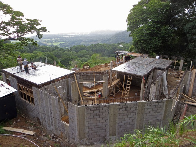 View of the house at the end of week 7.