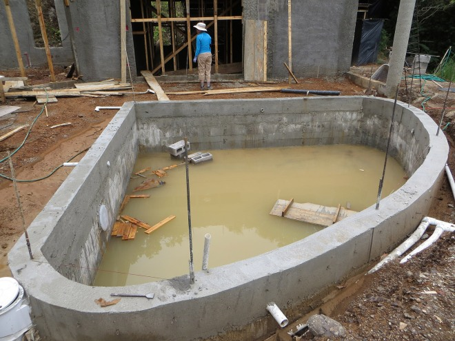 The pool walls have been poured.