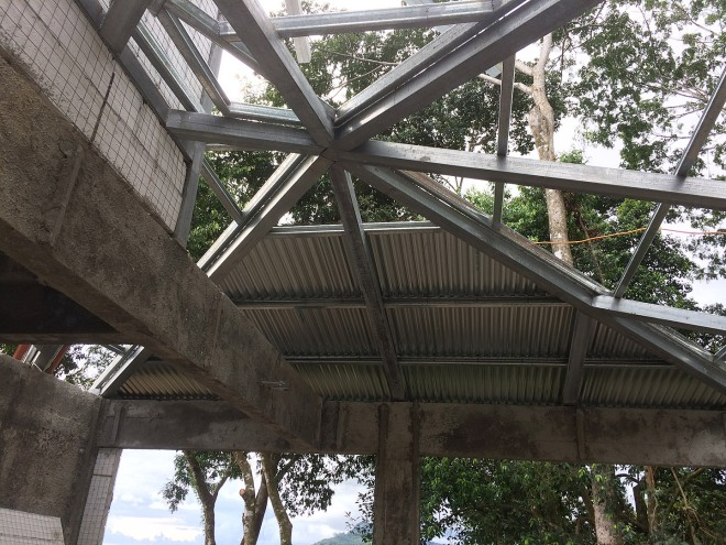 Another view of the carport roof.