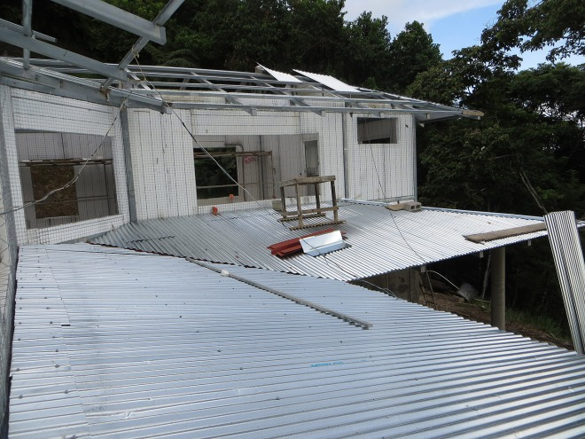 Here is the roof over the terrace.